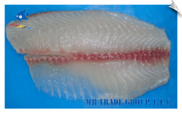 Tilapia Fillet, Non-CO Treated, Semi Deep Skinned, Well Trimmed