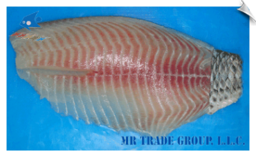 Tilapia Fillet, Non-CO Treated, Skin-On Tail Only, Regular Trimmed